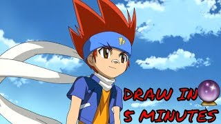 HOW TO DRAW GINGKA HAGANE || BEYBLADE BURST || METAL FUSION