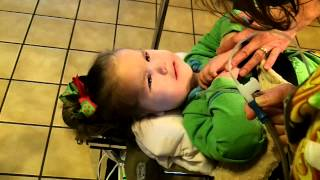 Living with SMA Type 1 Ella Hunt Deep suctioning to clear mucus