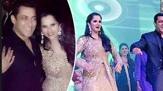 Salman khan & sania mirza dancing at sania sister's sangeet event superb exclusive video