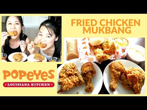 Popeyes: Mukbang Eating Show - Best Fried Chicken Ever!