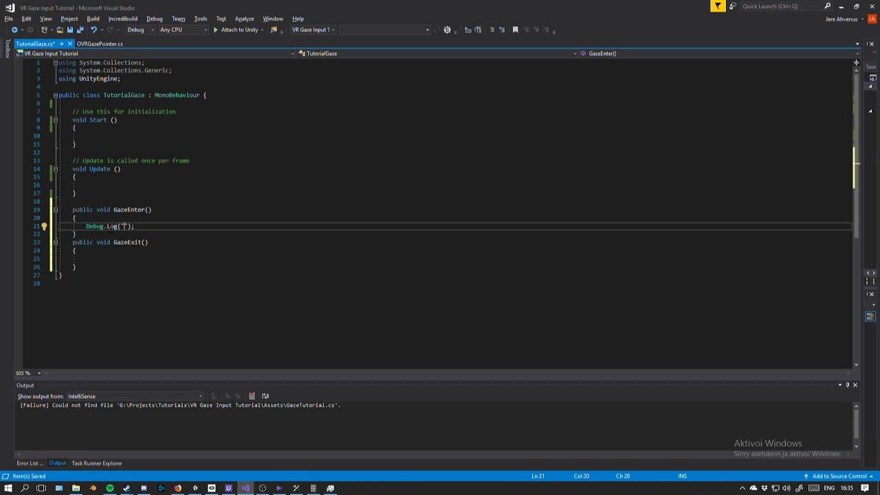 Unity Tutorial 2: VR Gaze Input ( Oculus Go & Gear VR)