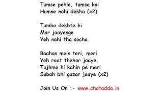 Dil Mein Chhupa Loonga Lyrics Full Song Lyrics Movie - Wajha Tum Ho