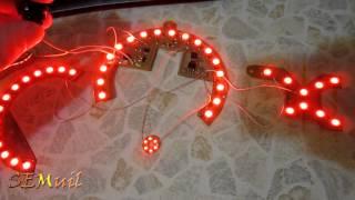 LED подсветка приборной панели Honda accord 6 (Красная)