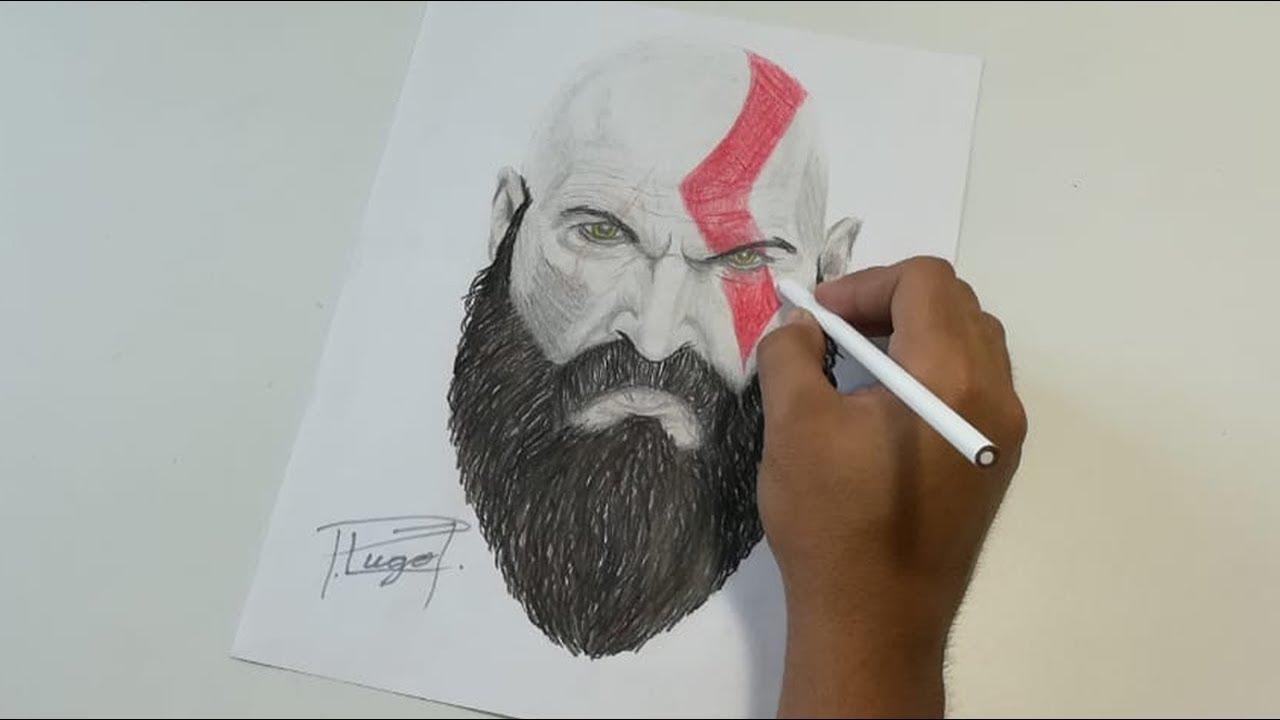 Kratos God Of War E3 2016 Dibujando A Kratos Del Nuevo God Of War By Forlovetoart