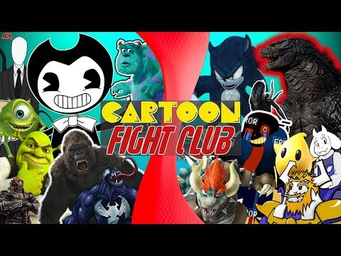 Bendy and The Ink Machine vs Undertale, Godzilla, & More! MONSTER FREE FOR ALL | CARTOON FIGHT CLUB