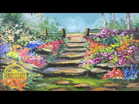 How to Paint a Birthday Cake and Flowers - Beginners Acrylic Painting Tutorial with Ginger Cook