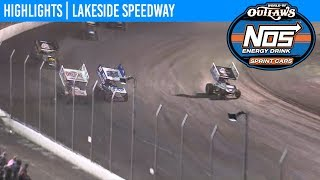 World of Outlaws NOS Energy Drink Sprint Car Series Highlights: Lakeside Speedway 10/18/19