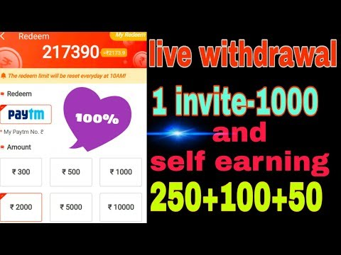 1 invite 1000 🤑 unlimited earning refer and self update video buddy application live payment proof