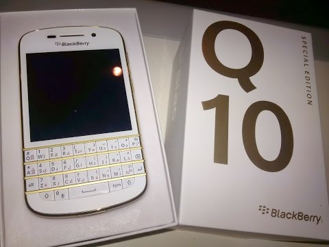 BlackBerry Q10 Gold Edition Unboxing & Overview