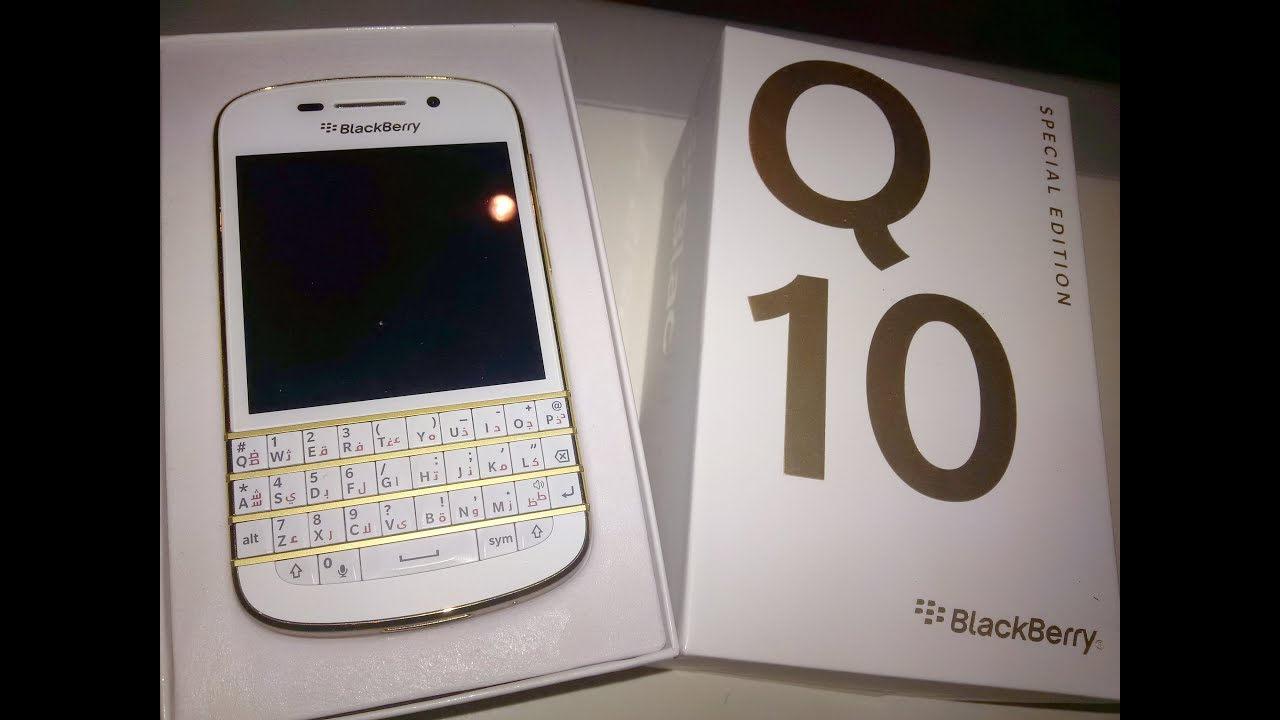 blackberry q10 gold edition unboxing amp overview youtube