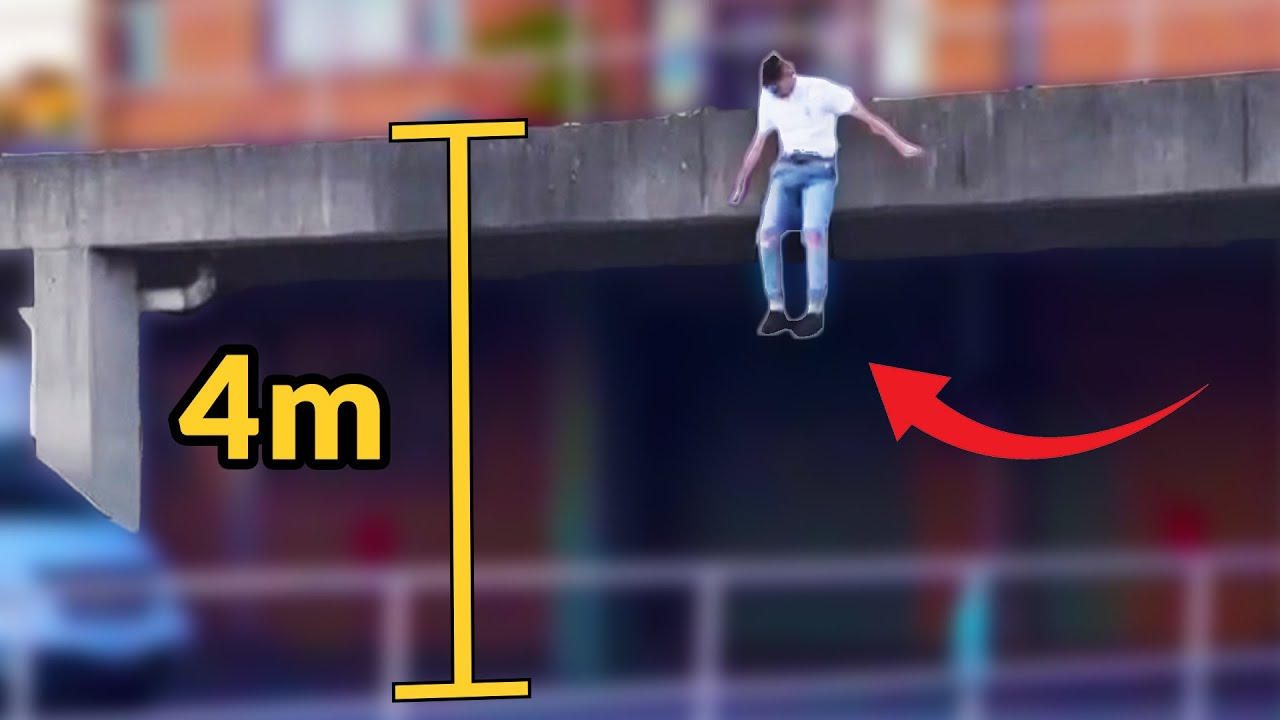 Testei o salto do adolescente que pulou de 4m de altura