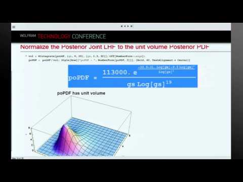 Parametric Probability Distribution Fitted to Data with Bayes's Theorem