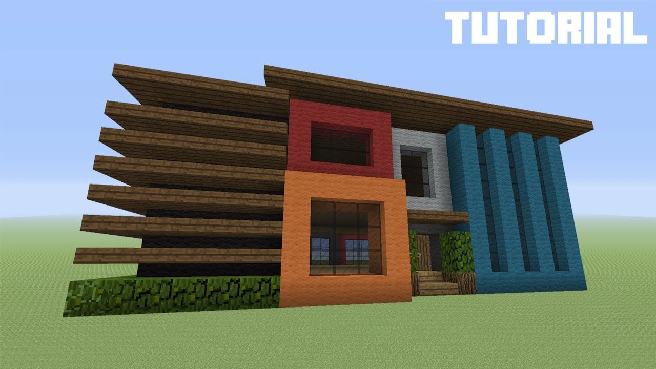 Minecraft Tutorial How To Build A Modern Wool House YouTube