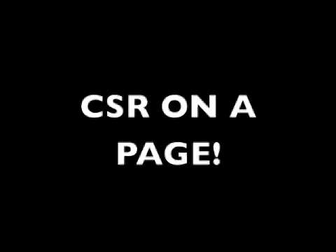CSR on a Page