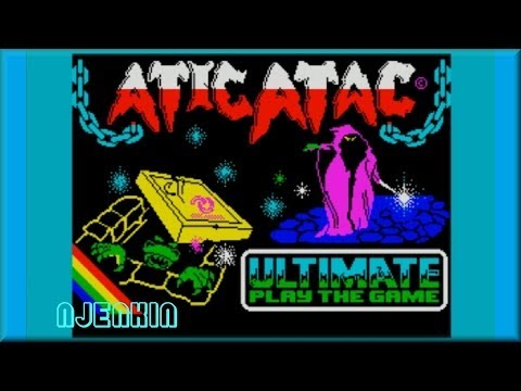 Atic Atac - on the ZX Spectrum 48K !  with Commentary