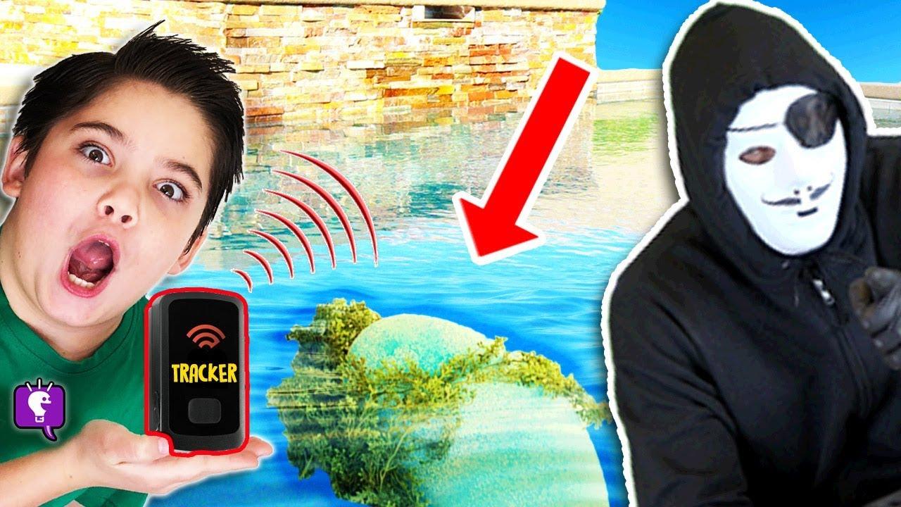 FLOATING Mystery NEST in HobbyGuys Backyard! Tracker Device Planted by HobbyKidsTV