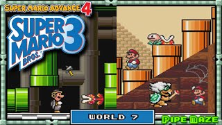 Super Mario Advance 4 - [Super Mario Bros 3] - Playthrough | World 7: Pipe Maze