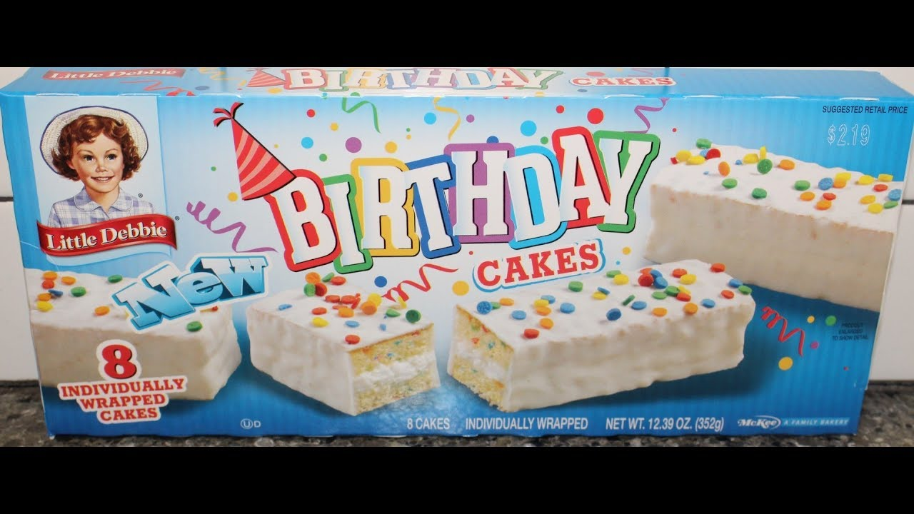 Little Debbie Birthday Cakes Snack Cakes Review Youtube