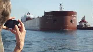 ship horn blast