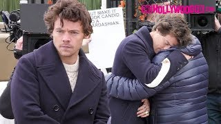 Harry Styles From One Direction & James Corden Share An Emotional Hug While Filming 11.20.19