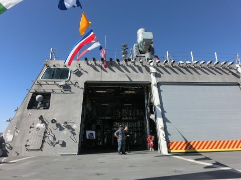 Tour of USS Coronado LCS-4 littoral combat aluminum trimaran ship -7/7