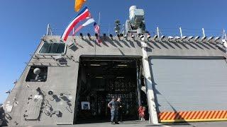 Tour of USS Coronado LCS-4 littoral combat aluminum trimaran ship -7/7