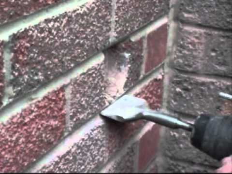 Fitting An Electrical Back Box Into Hard Brick Youtube