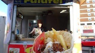 Buying a Higher Taste Level Falafel Wrap Sandwich - Egyptian Street Food in Shepherds Bush, London.