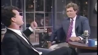 Shabbat Shalom Dave! - June 1987 with Tom Hanks and David Letterman