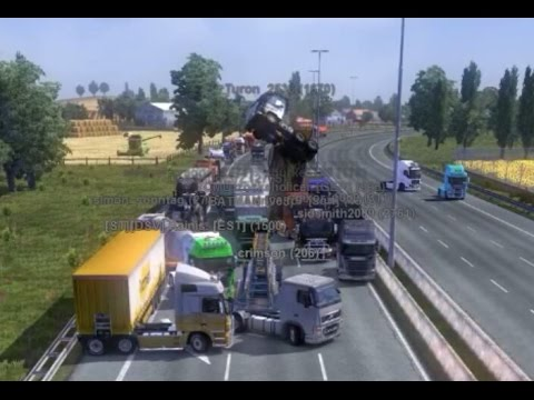 Idiots On The Road 4 Ets2mp Funny Moments Crash