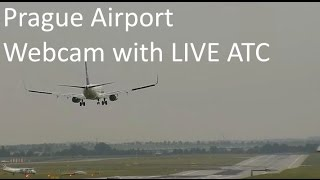 Prague Airport Webcam with LIVE ATC (11.06.2016)