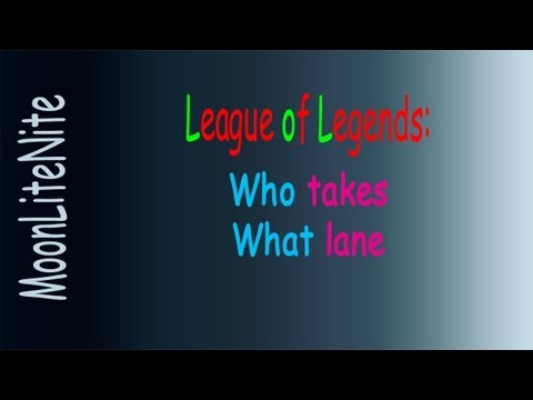 LoL - Lanes And Their Rolls (overview For Newbies)