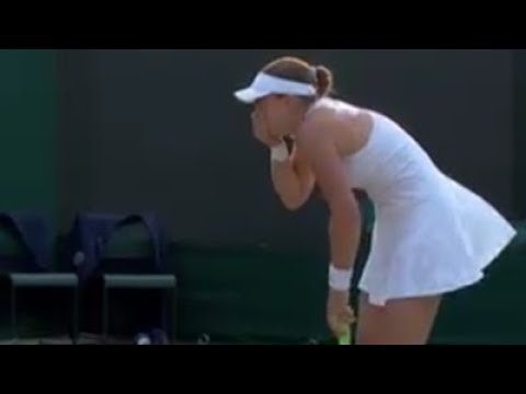Jelena Ostapenko smashes a serve into the head of her mixed doubles partner Robert Lindstedt 😬