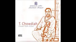 T. Chowdiah Carnatic (Violin) Vanajaksha (varnam)-Raag:Kalyani-Taal:Adi