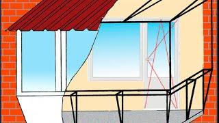 Ремонт, замена кровли крыши балкона(, 2015-08-12T05:50:25.000Z)