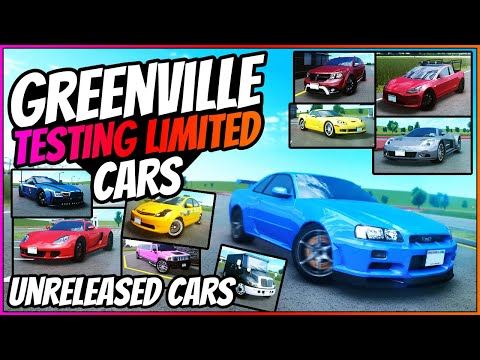 TESTING OUT LIMITED CARS?! - Greenville Unreleased Cars - GV - Greenville Wisconsin Roblox - GV4