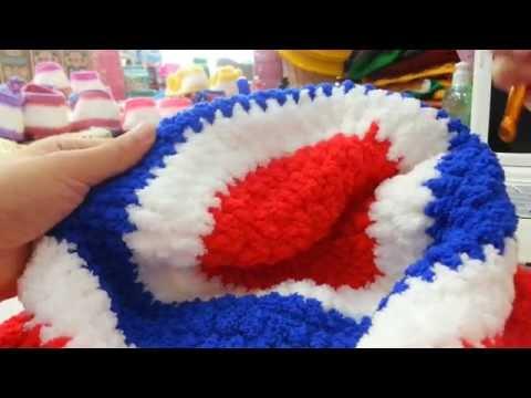 สาธิตการถักหมวกสีธงชาติ Part I
