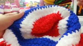 Repeat youtube video สาธิตการถักหมวกสีธงชาติ Part I