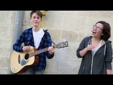 "Street musicians singing ""Zombie"" in Lviv"
