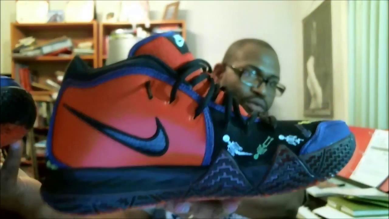 ad20b4ddb889 Nike Kyrie 4 DOTD TV PE 1 Team Orange Black-Multicolor CI0278-800 ...