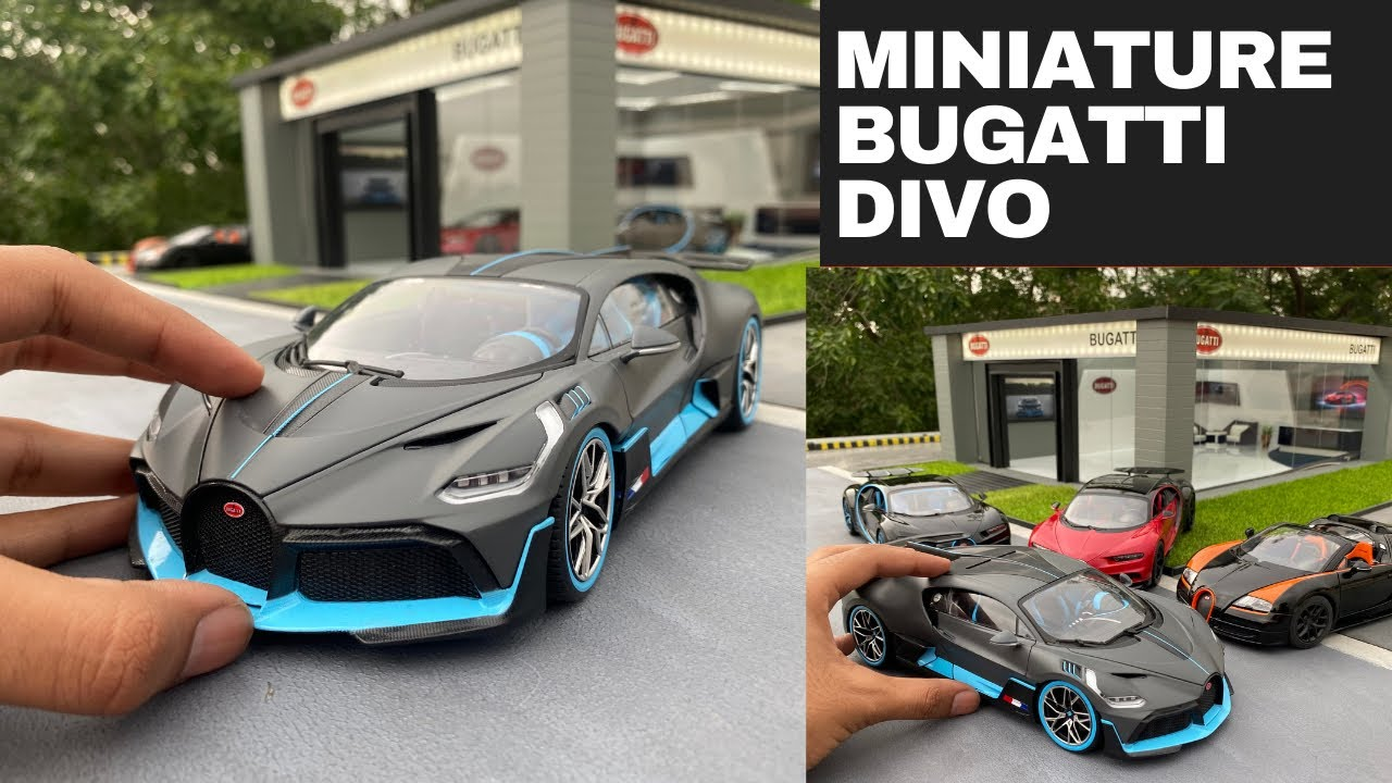 Buying Mini Bugatti Divo Hypercar from Miniature Bugatti Dealership | Diecast Model Cars