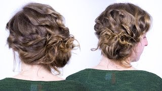 Face Slimming Updo Tutorial