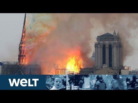 KATASTROPHE IN PARIS: Kathedrale von Notre-Dame brennt lichterloh