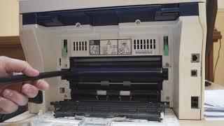 "Xerox 3045. Убираем черные полосы (пятна/ ""хлопья""/мазня) Remove the black stripes"