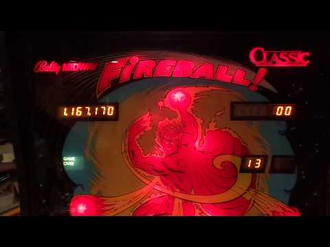 Bally / Midway FIREBALL CLASSIC  (Dr. Dave's Pinball Restorations)