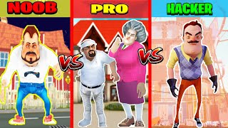 NOOB vs PRO vs HACKER KAPIŞMASI  Hello Neighbor vs Scary Teacher vs Dark Riddle Challenge