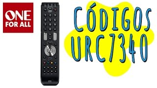 Códigos controle universal one for all UCR-7340