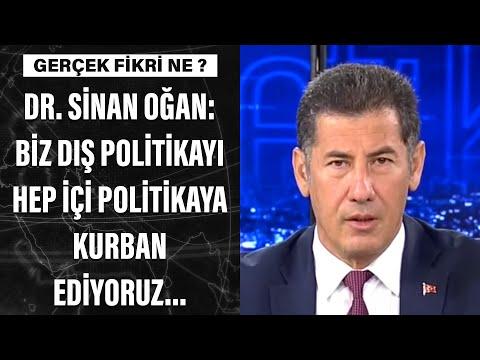 Dr. Sinan Oğan: Biz dış politikayı hep içi politikaya kurban ediyoruz...