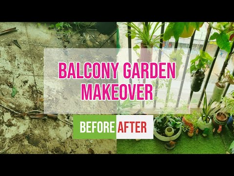 Balcony Garden Makeover | DIY Balcony Decoration | Space utilization for more plants | Bottle DIY