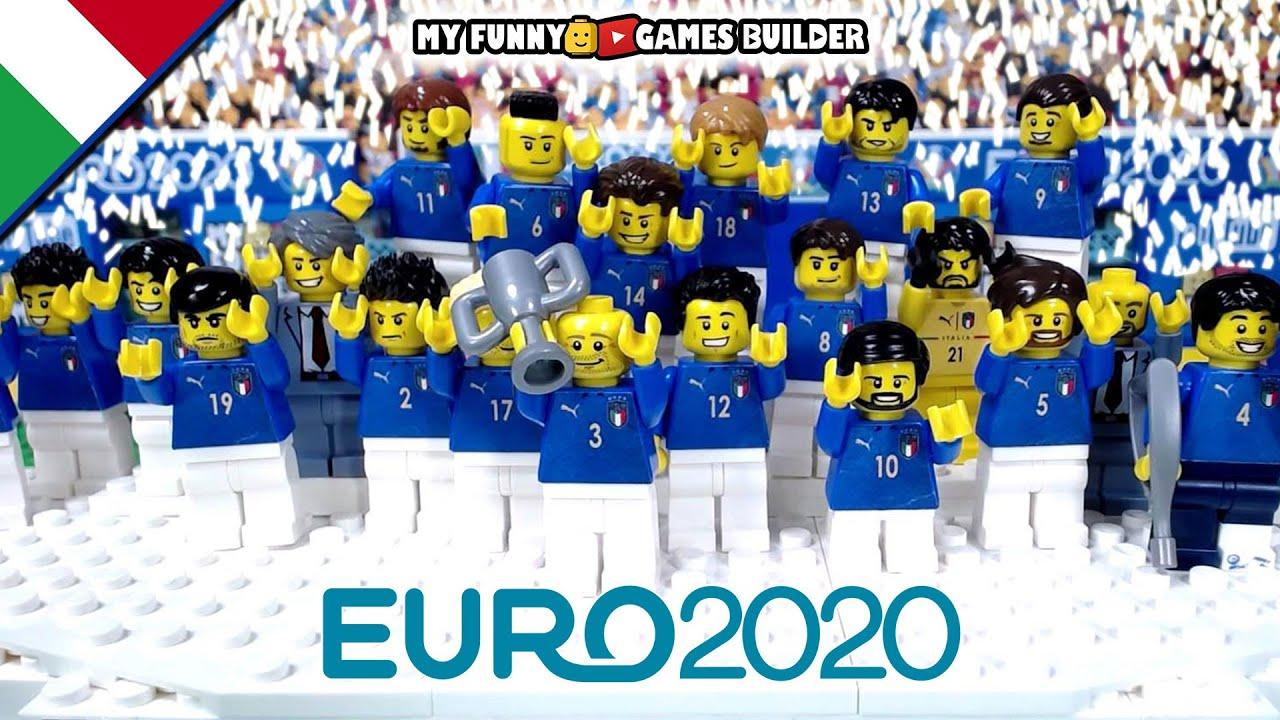 Italy winner Euro 2020 in Lego Football stop-motion • Italia Campione d'Europa Euro 2020